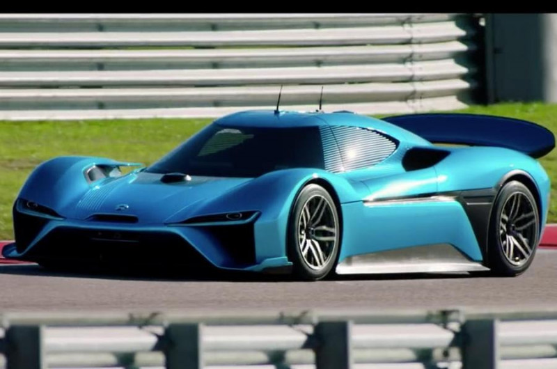 NIO EP9 sports car, the first company's model