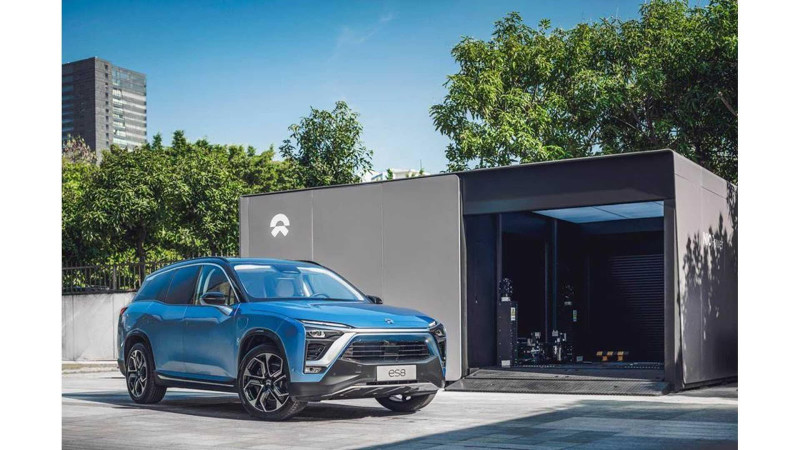 NIO's first power station swap