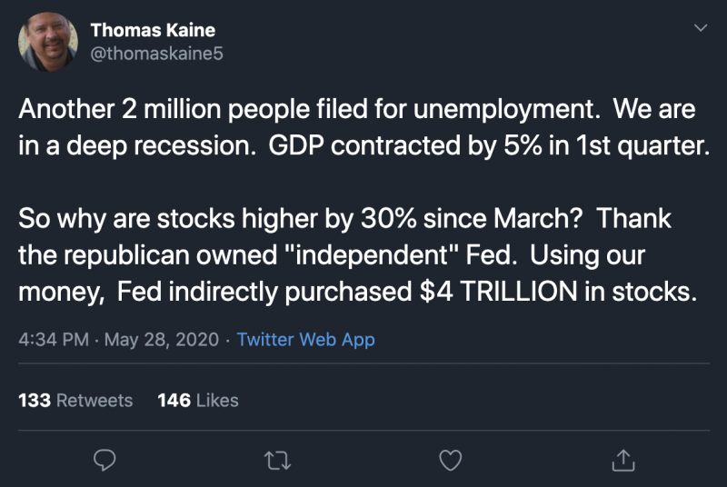 Thomas Kaine Comments On The Unemployment.