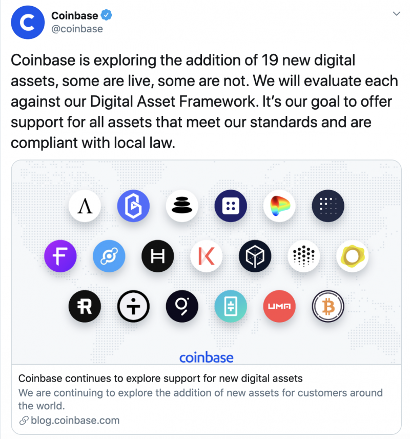 Image source: Twitter @coinbase